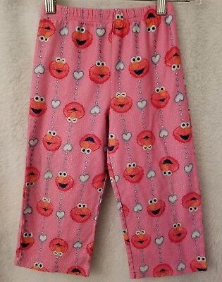 Girls Multi Color Elmo Heart Polka Dot Design PJ Elastic Waist Pants Size 4T Polka Dot Elmo