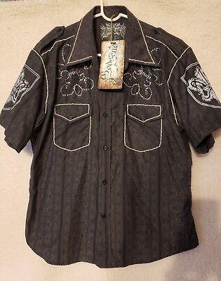 Cool Boys Dress (NWT Boys XL (14-16) Cool Bling Godsend Black Short Sleeve Couture Dress)
