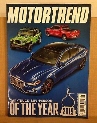 - Motor Trend Magazine January 2019