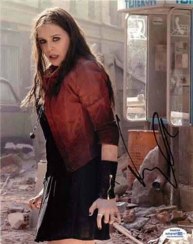 *SCARLET WITCH* Elizabeth Olsen Signed 8x10 Photo Proof COA Avengers c Endgame