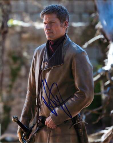 *LANNISTER* Nikolaj Coster-Waldau Signed Game of Thrones 8x10 Photo PROOF COA E