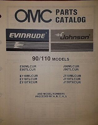 1987 OMC OUTBOARD 90, 110 HP MODELS PARTS CATALOG 0398629  10/86
