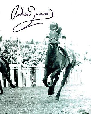 Richard DUNWOODY HAND SIGNED Autograph Jockey 10x8 Photo AFTAL COA