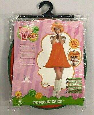 Pumpkin Spice Costume (Women's Adult Fruity Licious Pumpkin Spice Halloween Costume NEW)
