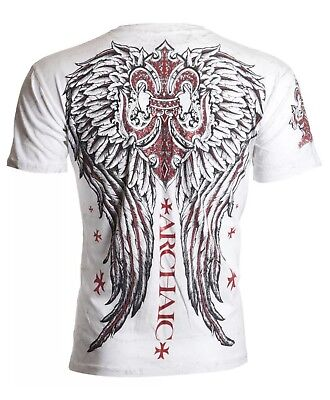 Archaic Affliction Mens T Shirt Brigand Wings Tattoo Fight Biker Ufc Mma Sm  40