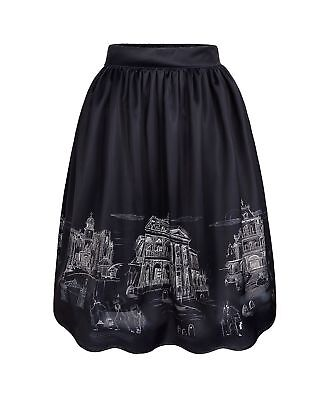 Disney Parks Her Universe Dress Shop Haunted Mansion Skirt Size 2X Plus NWT