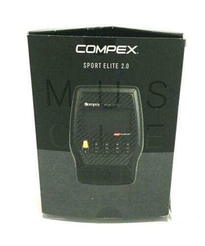 Compex Tens Unit Muscle Stimulator Bundle Kit Sport Elite 2.0 506110TENS