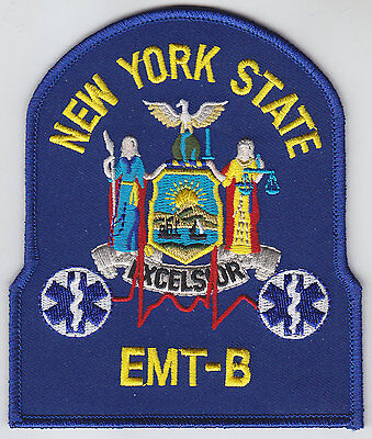 New York State EMT-B patch NY NYS Emergency Medical Technicial-B
