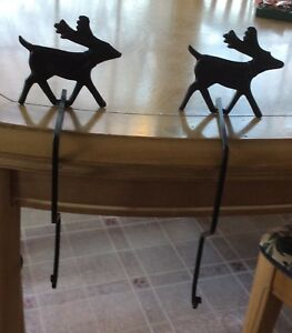 Reindeer Wrought Iron Stocking Holder