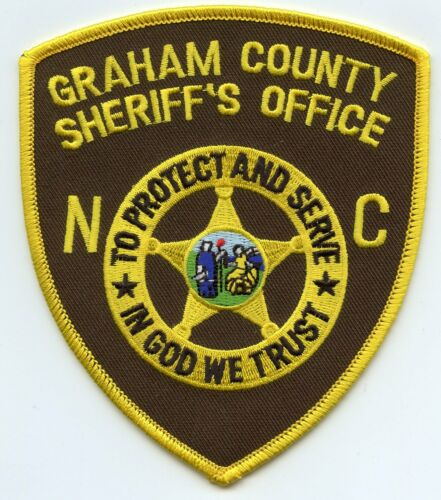 GRAHAM COUNTY NORTH CAROLINA NC In God We Trust SHERIFF POLICE PATCH