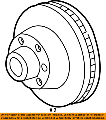 Ford Oem 99 07 F 350 Super Duty Rear Brake Rotor Yc3z2c026bb