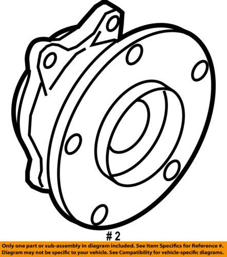 Genuine Mazda OEM Hub and Bearing KD31-26-15XA