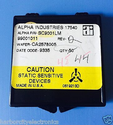 Sc9001lm Alpha Industries Capacitor Chip Rf Microwave Product 45units Total