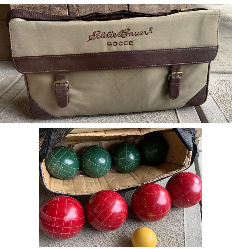 Eddie Bauer Speckled Bocce Ball Set w/ Original Bag