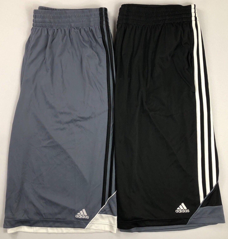NWT ADIDAS Big /& Tall Mens Logo 3 Stripe Basketball Shorts GREY 3XL 4XL 5XL