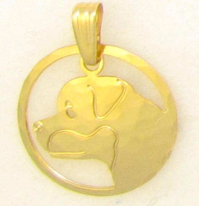 Rottweiler Jewelry Rottweiler Gold Head Pendant