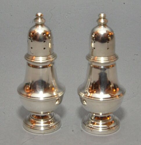Pair Fisher Sterling Silver Pedestal Style Salt & Pepper Shakers #445 - 3.2 ozt