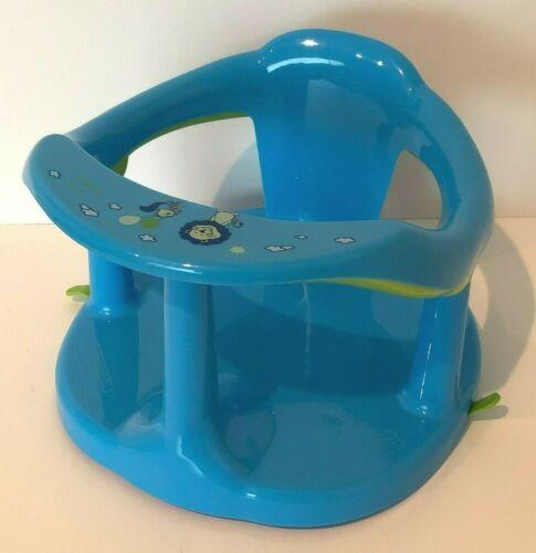 Infant Baby Bath Seat Bath Ring Baby Bathtub Chair Blue Lion and Squirrel Animal