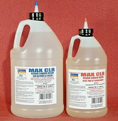 Epoxy Resin Clear Food Safe Coating Casting Sealing 4 Wood Metal Concrete 1.5gal