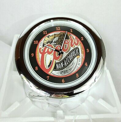 NEW 2001 VINTAGE Coors Non Alcoholic Beer Sign Neon Clock Man Cave Garage Bar