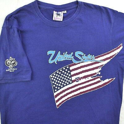 FIFA Soccer World Cup Germany 2006 USA S T-shirt Small United States Team Flag ()