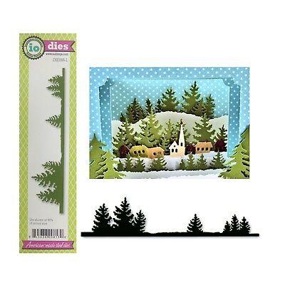Pine Fir Tree Border Metal Die Cut Impression Obsession Cutting Dies DIE086-L