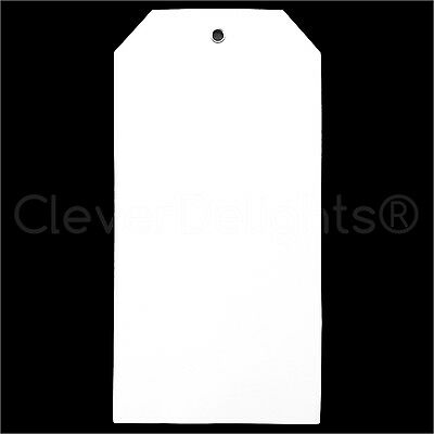 100 White Plastic Tags - 6.25 X 3.125 - Tearproof - Inventory Id Price Tags