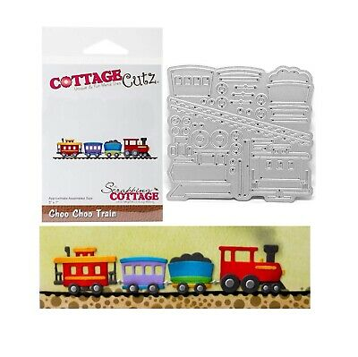 Die Train (Train Metal Die Cut Choo Choo Cottage Cutz Cutting Dies CC-298)