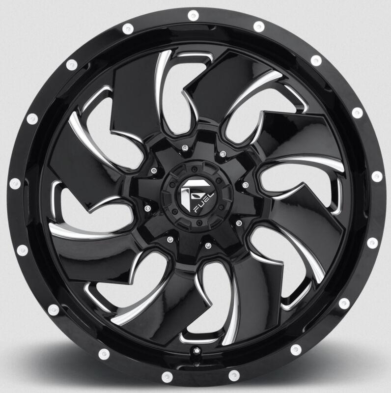"(5) 17"" D574 Fuel Cleaver Wheels Jeep Wrangler Jk Tj 33"" Nitto Tires Package"