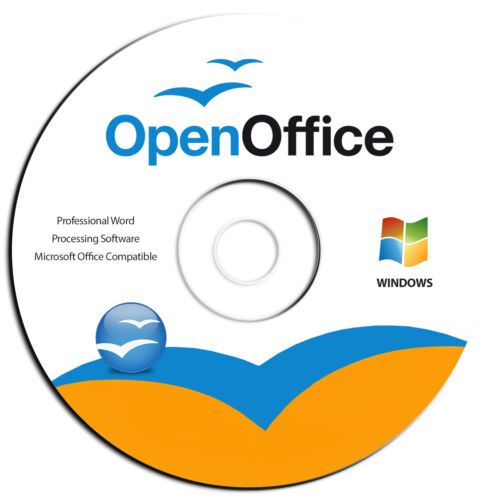 Open Office Suite Software-Home Student-for Microsoft Windows-Word Processing CD