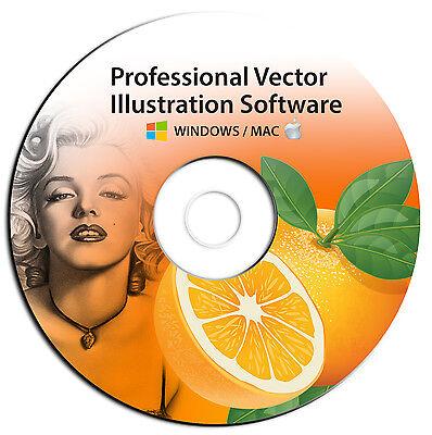 NEW 2020 Professional Illustrator Vector Graphics Image Drawing Software Program