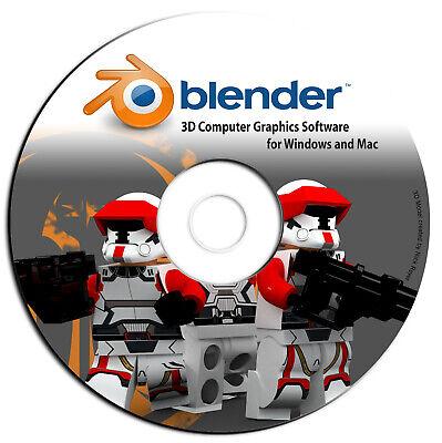 NEW Blender 3D Graphic Design-Animation-Video Game Creation Software-Windows Mac