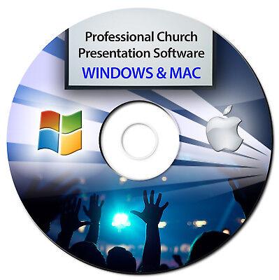 NEW 2018 Professional Church Worship Presentation Software-Bible Screen Video-CD