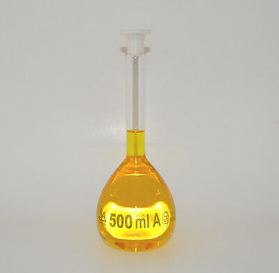 Volumetric Flask Class A 500 Ml Wplastic Stopper 500ml Laboratory New Lab