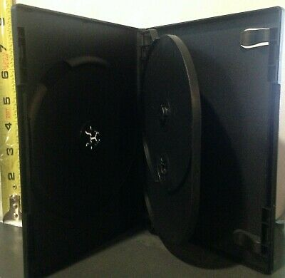 1 Black Triple Three 3 Discs Dvdvgpc Case From New Media Standard 12 14mm