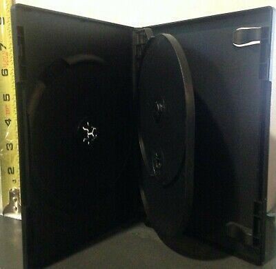 1 Black Triple Three 3 Discs Dvdvgpc Case From New Media Standard 12 14mm