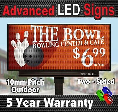 Sale Double Sided Full Color Led Sign 4 X 7 10mm Outdoor Display Made In Usa