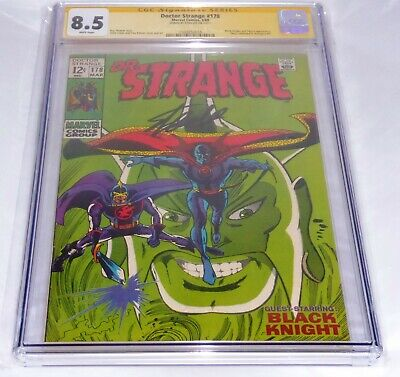 Doctor Strange #178 CGC SS Signature Autograph STAN LEE Black Knight Avengers 🔥