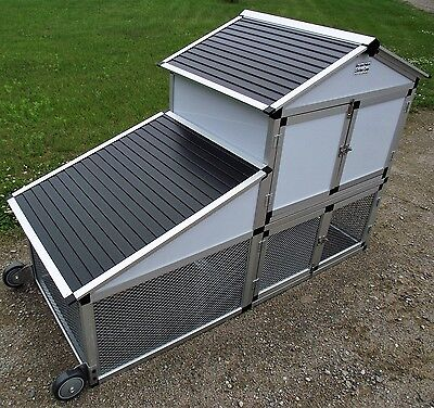 Rite Farm Products Lifetime Series Chicken Tractor Mobile Coop Poultry Cage Run