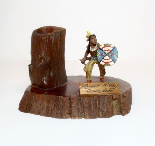VINTAGE MOUNT MCKAY ADVERTISING SOUVENIR WILD WEST FIGURE Toy Soldier