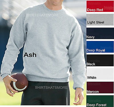 Hanes Mens Crewneck Sweatshirt Comfortsoft Fleece Crew S M L XL 2XL 3XL (Fleece Crewneck Mens Sweatshirt)