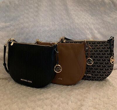 NWT Michael Kors Bedford Medium Crescent Shoulder Bag