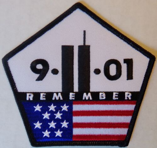 9 11 01 REMEMBER MOTORCYCLE BIKER JACKET PATCH - AMERICAN VEST PATCH - SEPT 11