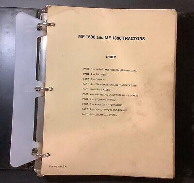Massey Ferguson Mf 1500 1800 Tractors Service Manual 1448995m1 Used Original