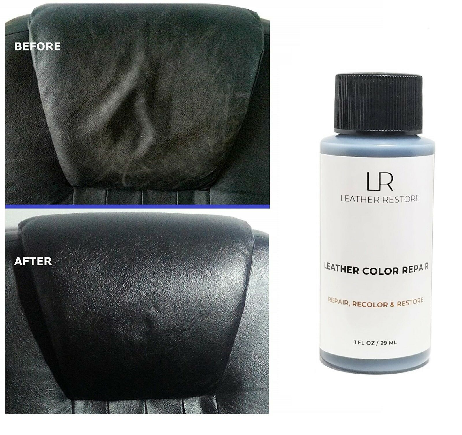 Leather Color Repair 1 Oz Recolor Restorer Couch Furniture V