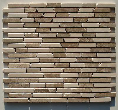 12 X 12 Mosaik (Marmormosaik Fliese beige Milchkaffee 27,8x30x0,8cm; Naturstein Bad AKTION)