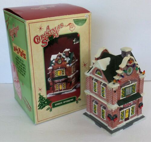 "Department 56 - ""A Christmas Story"" Village Lighted Building - SCHULTZ OPTOMETRY"
