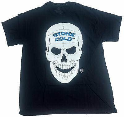 WWE Mens Legends Stone Cold Steve Austin 3 16 and Skull Licensed T-Shirt X-Large Black