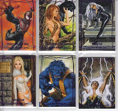 2016 Marvel Masterpieces - PURPLE #1-90 90-card Set Includes High #82-90 NM