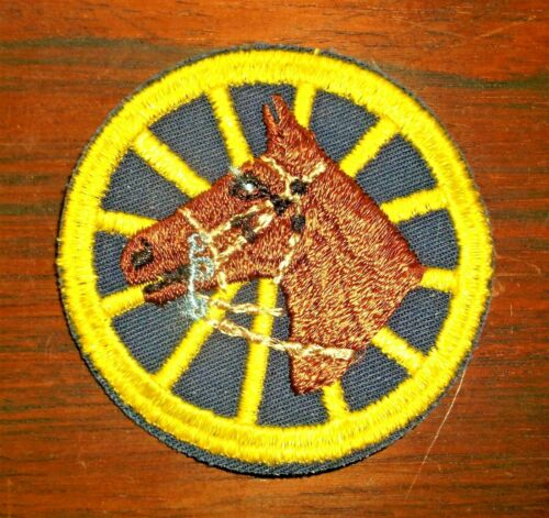 GEMSCO NOS Vintage Patch (1) PAIR - NYPD MOUNTED HORSE UNIT NY - 45+ year old v1